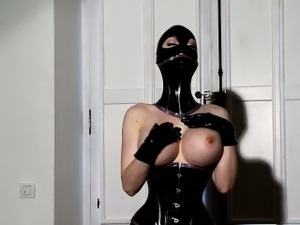 latex handjob movie