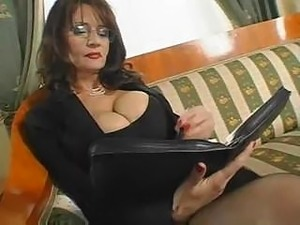 Hot naked secretary