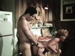 blonde wife fucked in kitchen