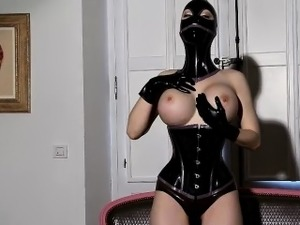 latex skirt squirting pussy