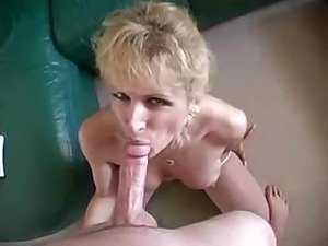 blonde swallows black jizz