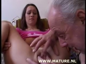 amateur girl with lousy old man