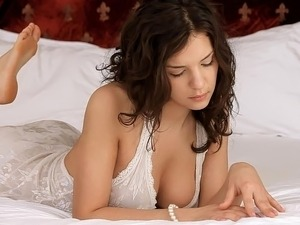 petite brunette masturbating fingering cute