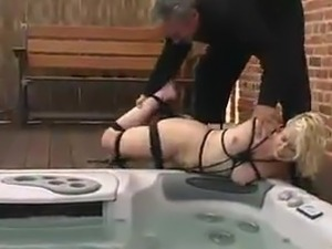 bondage anal stretch enema video