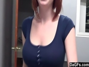 red head big tits videos