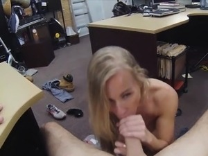 Hottie blonde chick wanted to be fucked for cash