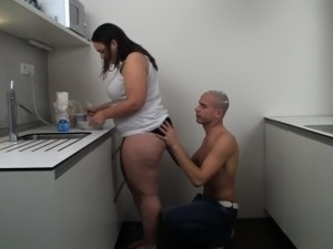 pussy in the kitchen