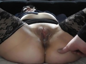 brunette wife blowjob