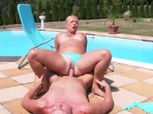 Staggered idol in underwear is geeting peed on and pounded