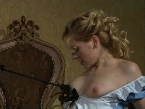 sexy blonde maid uniform interacial amature