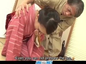 Subtitles -  Japanese girls Yayoi Yanagida blows cock and fu