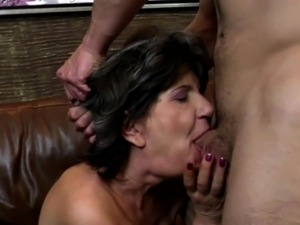 Grandmas suck and fuck hard cocks