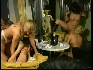 lesbian asian orgy lucky guy