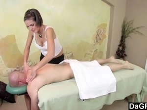 wife massaged naked