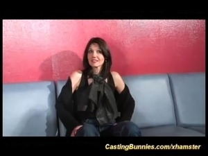 Busty french girl is casted