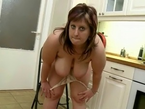 blonde kitchen sex video