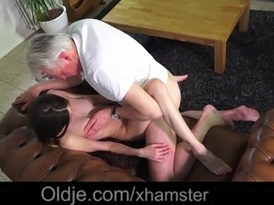 Teen old man fuck