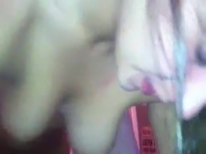 Girl sucks fat guys cock and he doesnt hesitate to film it