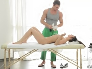 mature breast massage video