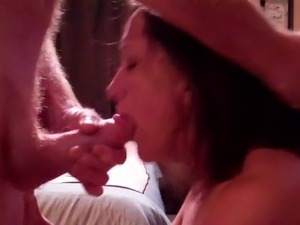 girl sucking off s dick
