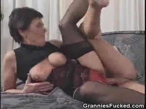 old granny young man sex