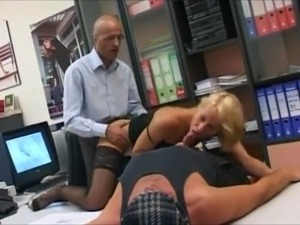 euro scene 32 beautiful blonde with 2 large cocks
