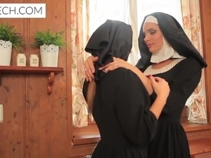 free picture of blonde fake nun