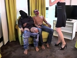 Celine analfucked in a threesome