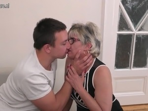 mom gives son blowjob video