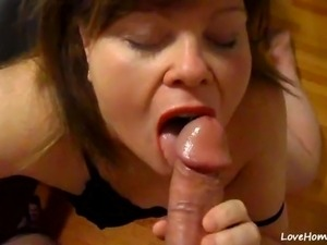 wife amateur husband swallow cum
