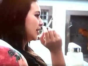 teen sexy smoking
