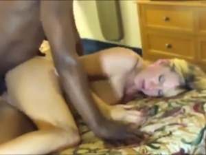 Horny blonde housewife indulges in intense interracial sex