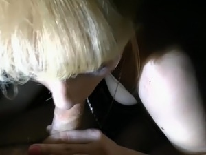Two girls and a boy are having sex in car