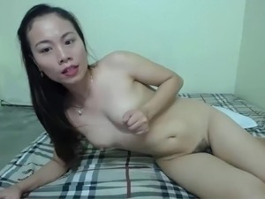 cute asian girl masturbate
