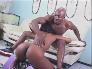 black couple fuck with facial