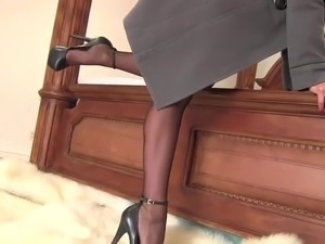 black nylons and sexy feet