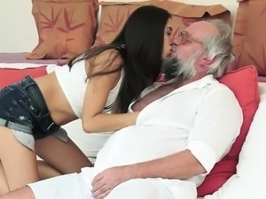 young girl fucks old man