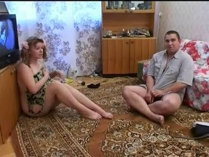 Russian teen couple fucking