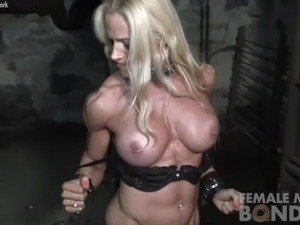 muscular and black and girl