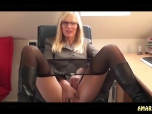 dirty talk blonde solo anal