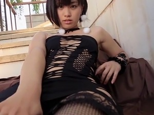 japanese blowjob in fishnet stockings