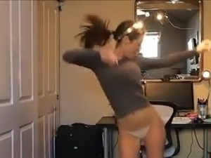 Teens dancing in panties