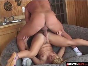 pussy dripping from brutal pounding