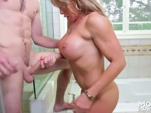 ebony milf sex with white guy