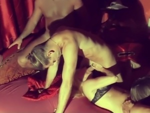Interracial gangbang vids