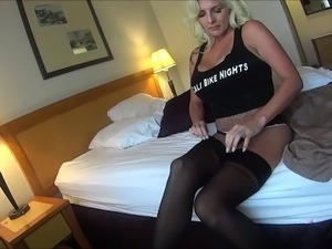 wife in black nylons