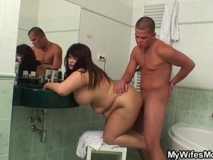wife bathroom blowjob