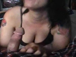 Black cum in mouth