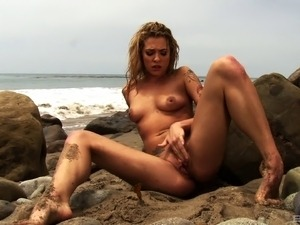 blonde sex on beach