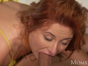 redhead pigtail blowjob college party